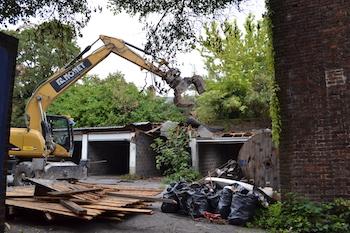 Grand Manège : première phase de démolition