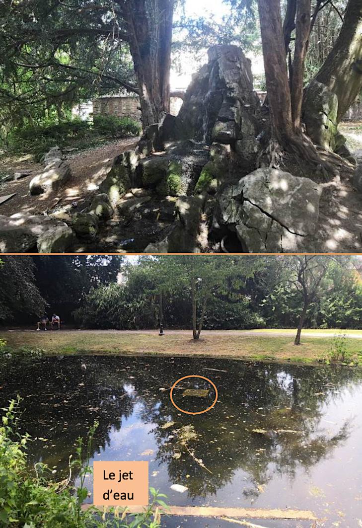 Jambes : fontaine du Parc Astrid, la rénovation