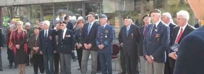 Tanguy Auspert honore les anciens combattants