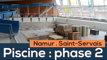 Saint-Servais : phase 2 de la rénovation de la piscine