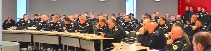 Une centaine de pompiers à la réunion publique de la Zone NAGE