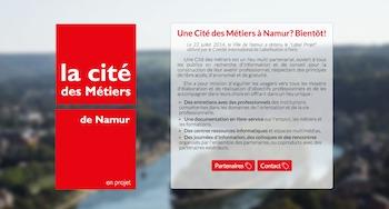 La Cité des Métiers de Namur a un site