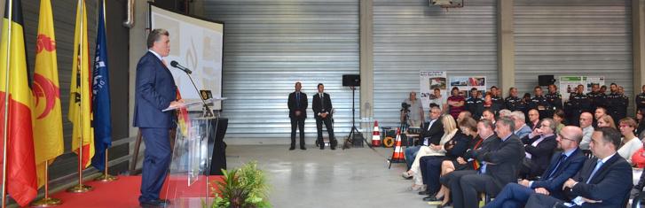 Inauguration de la nouvelle Caserne des pompiers de Namur