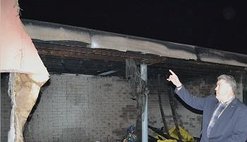 Incendie criminel à l'école Basse-Enhaive de Jambes