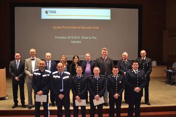 Diplômés aux Ecoles provinciales de Sécurité Civile