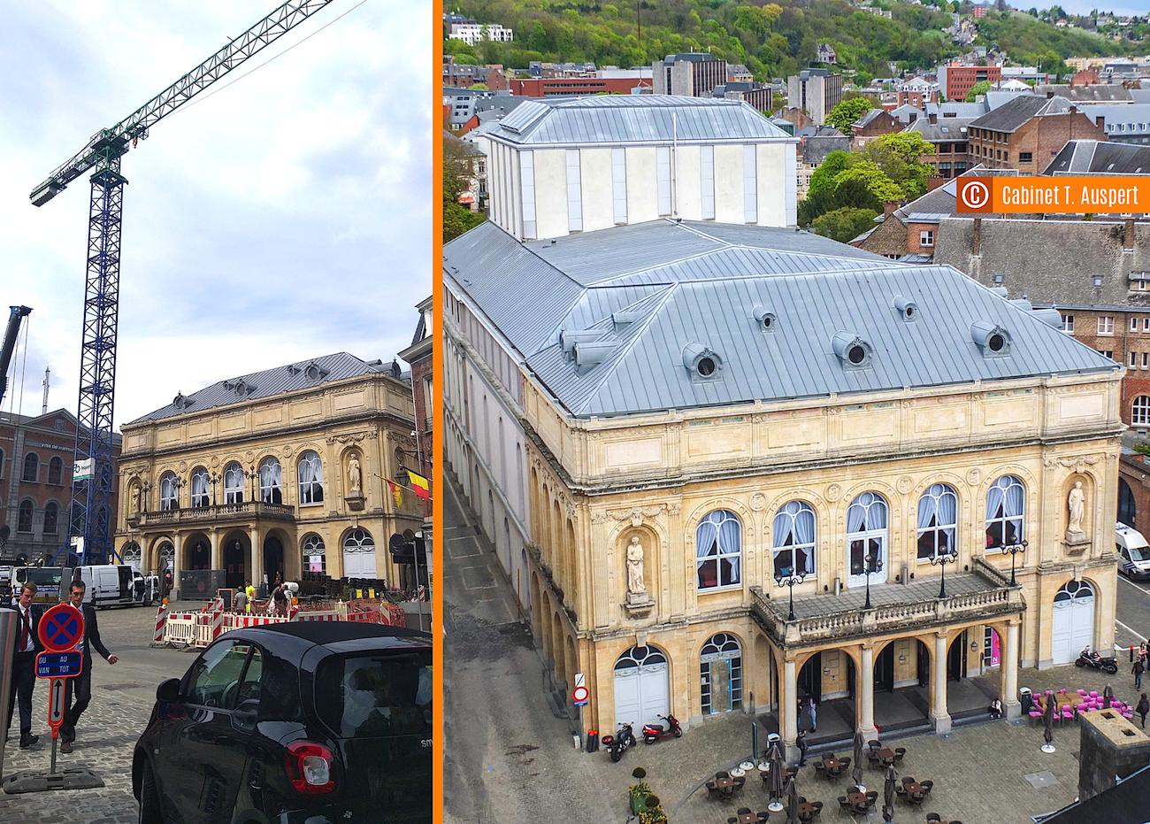 Théatre royal de Namur : début des travaux