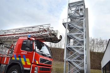 Namur, la nouvelle caserne des pompiers