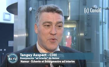 Tanguy Auspert, Bourgmestre faisant fonction