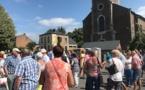 L'église d'Andoy en travaux