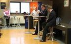 Tanguy Auspert et le Ministre Paul Furlan                               au Salon des Mandataires