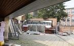 Salzinnes, Ecole Communale rue Juppin n°3: le chantier à l'été 2011