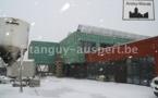 Malgré les rigueurs de l'hiver, le chantier de l'Ecole Communale d'Andoy se poursuit