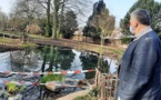 Jambes : réparation à la fontaine du Parc Astrid