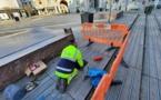 Namur : rénovation des fontaines de la place d'Armes