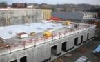 Un hiver clément pour le chantier de la Caserne des Pompiers