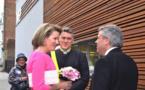 La Reine Mathilde visite l'IMEP